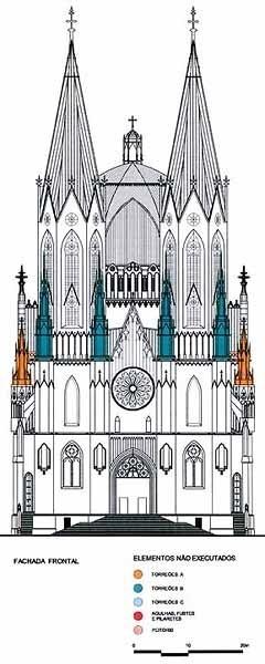 Catedral e Praça da Sé, vista frontal<br />Imagem de Paulo Bastos