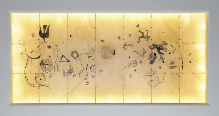 Entre os ordenamentos que conferem uma importancia luminosa, a cúpula da sala de honra, situada entre a sala de jantar e a grande sala de estar, constitui uma obra única no seu tipo (ver nota 5)<br />Foto Georges de Kinder  [Ma² - Metzger and Partners Architecture]