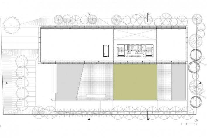 Nova sede da Confederação Nacional de Municípios – CNM, planta pavimento tipo – escritórios, Brasília DF, 2016. Arquitetos Luís Eduardo Loiola e Maria Cristina Motta / Mira Arquitetos<br />Desenho divulgação