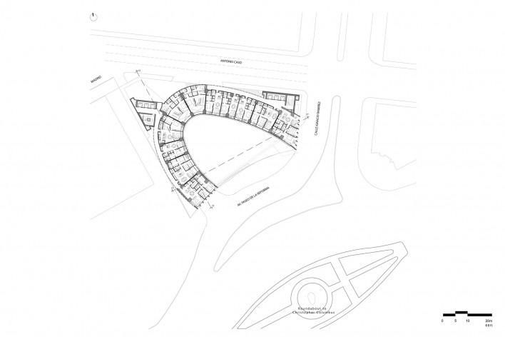 Planta segundo piso<br />Diseño de los autores del proyecto  [Migdal Arquitectos]