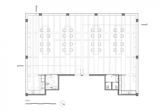 Escritório SMA, planta, São Paulo SP Brasil, 2019. Arquitetos Rosário Pinho e André Scarpa / André Scarpa Arquitetura<br />Imagem divulgação  [Acervo André Scarpa Arquitetura]