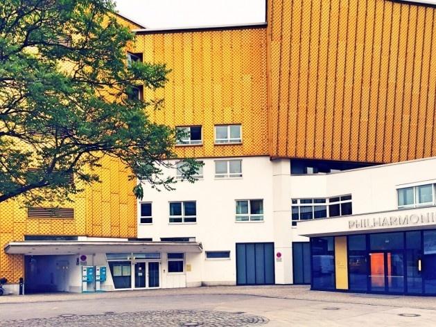 Filarmônica de Berlim e Sala de Música de Câmara, acesso posterior, arquiteto Hans Scharoun<br />Foto Fabiano Borba Vianna, 2016