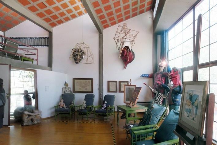 Casa-estúdio de Diego Rivera, ateliê, 1931. Arquiteto Juan O'Gorman<br />Foto Victor Hugo Mori