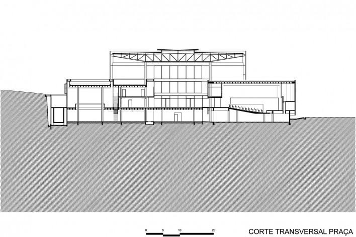 Corte transversal praça - Biblioteca Brasiliana USP