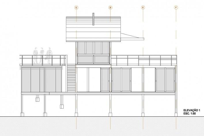 Casa do Felix, elevação 1, Praia do Felix, Ubatuba SP, arquiteto Silvio Sant'Anna<br />Imagem divulgação