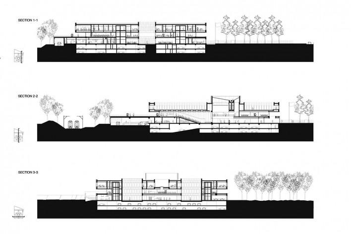 Câmara de Comércio e Artesanato de Hauts-de-France, cortes 01, 02 e 03, Lille, França, 2019. Escritórios Kaan Architecten e Pranlas-Descours Architect & Associates<br />Imagem divulgação  [Kaan Architecten / Pranlas-Descours Architect & Associates]
