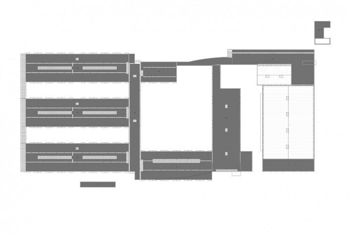 Escola Gaspar Frutuoso, planta cobertura, Ribeira Grande, Azores, Portugal, 2016. Arquiteto Carlos Almeida Marques<br />Imagem divulgação  [Acervo Arquiteto Carlos Almeida Marques]