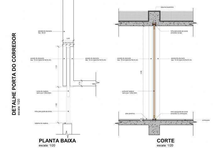 Detalhe porta do corredor<br />Otra Arquitetura