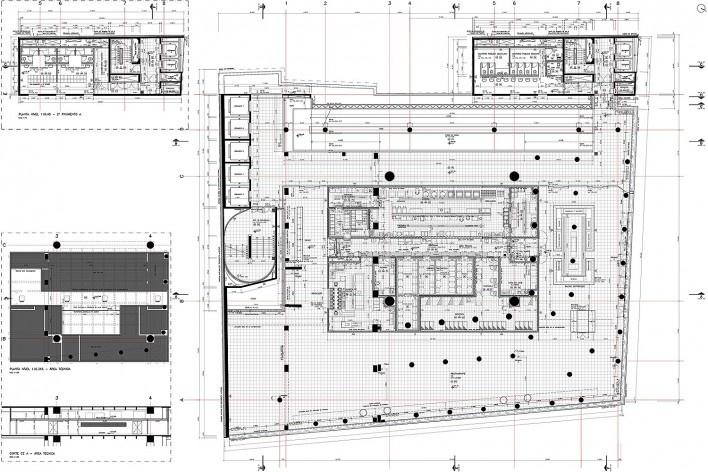 Sesc 24 de Maio, 2º pavimento, restaurante, Paulo Mendes da Rocha + MMBB Arquitetos, São Paulo<br />Imagem divulgação