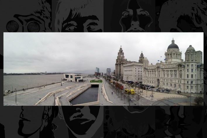 Reurbanização da área portuária e o Liver Building com sua torre do relógio com as esculturas dos pássaros liverbird no alto (símbolos de Liverpool)<br />Foto Victor Hugo Mori