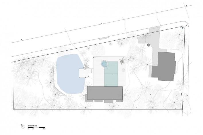 Kiosk EL165, site plan, Gravataí RS Brasil, 2016. Architects Diego Brasil and Anderson Calvi / Br3 Arquitetos<br />Imagem divulgação / disclosure image  [Br3 Arquitetos]