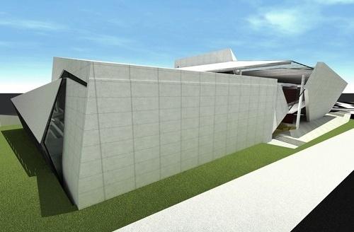 Perspectiva geral dos teatros<br />Imagem do autor do projeto