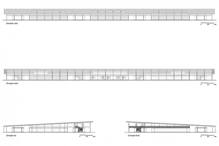 Moradas infantis, elevações, Formoso do Araguaia TO, 2015. Escritórios Rosenbaum e Aleph Zero<br />Imagem divulgação