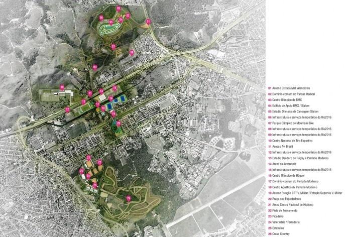 Parque Olímpico de Deodoro, masterplan, Rio de Janeiro, RJ, Escritório Vigliecca & Associados <br />Imagem divulgação