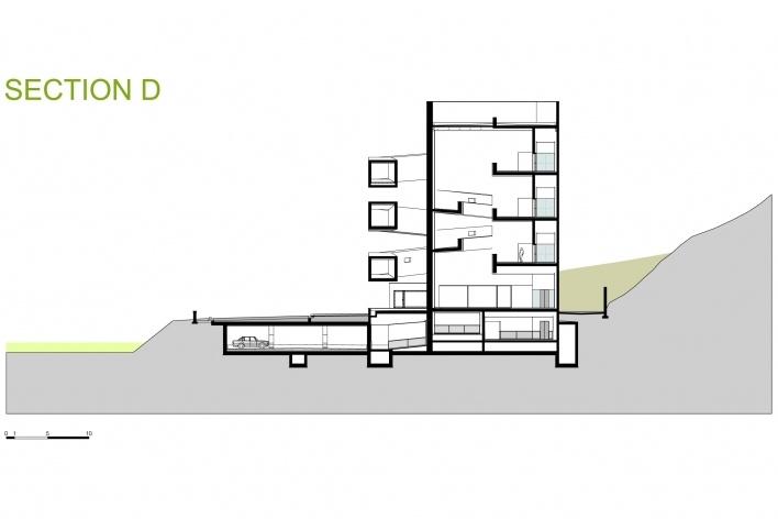 Sede da Fundação Iberê Camargo, corte D. Arquiteto Álvaro Siza, 2008<br />Desenho escritório