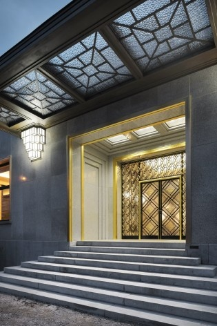 View of the main entrance of Villa<br />Foto Georges de Kinder  [Ma²  - Metzger and Partners Architecture]