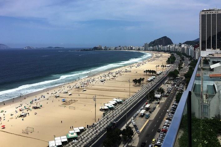 Praia de Copacabana, Rio de Janeiro<br />Foto Michel Gorski