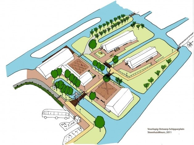 Nova entrada de Schipperplein<br />Projeto SteenhuisMeurs BV