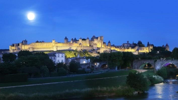 Vista geral de Carcassonne, França<br />Foto Victor Hugo Mori