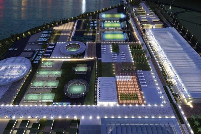 Rio Olympic Park – Aerial View Night<br />Rio 2016/BCMF Arquitetos
