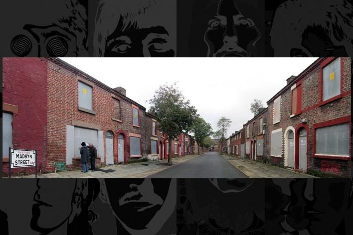 Madryn Street nº 9 onde nasceu Ringo Starr. O conjunto de casas vazias aguarda a demolição para construção de um novo empreendimento imobiliário<br />Foto Victor Hugo Mori