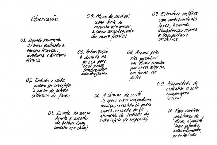 Oficina de desenho urbano MCB, descrição das principais decisões do projeto de anexo, São Paulo, 2011