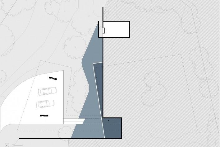 Casa em Cotia, UNA Arquitetos, 2016, pavimento inferior<br />UNA Arquitetos