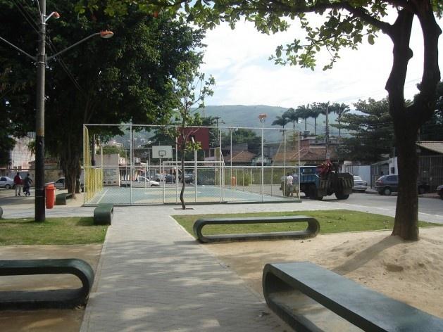 Vista da Praça Carlos Gomes<br />Imagem dos autores do projeto