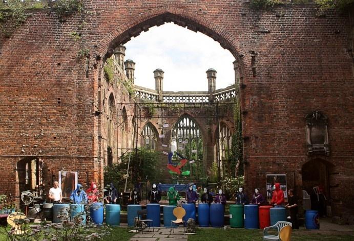 Evento na St. Luke´s Church ou Bombed Out Church, em Liverpool, Inglaterra <br />Foto Victor Sena