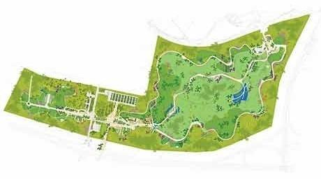 Plano paisagístico<br />Imagem dos autores do projeto