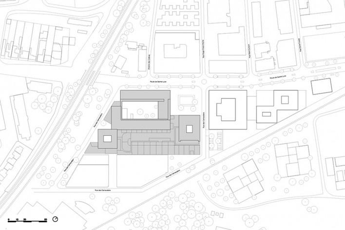 Bottière Chénaie, site plan, Nantes, France, 2019. Architects Kees Kaan, Vincent Panhuysen, Dikkie Scipio (authors) / Kaan Architecten<br />Imagem divulgação/ disclosure image/ divulgation  [Kaan Architecten]