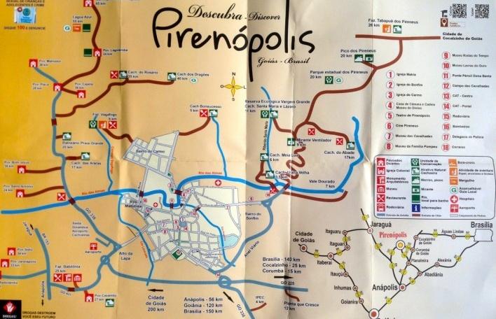"""Mapa turístico para """"descobrir"""" Pirenópolis<br />Foto Fabio Lima"""