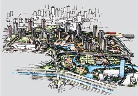 Perspectiva aérea<br />Imagem dos autores do projeto