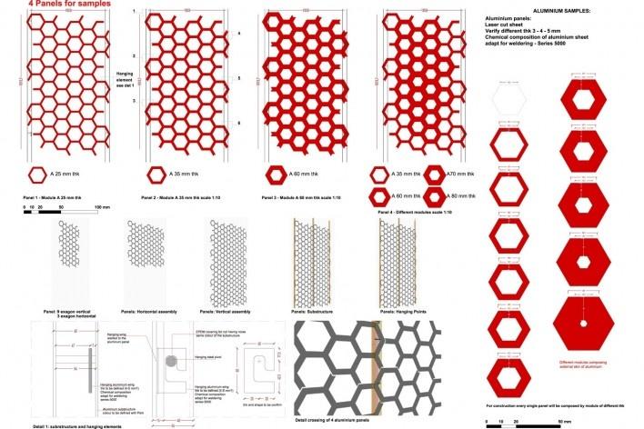 Dettagli pannelli in alluminio. The Cube, Park Associati. Bruxelles, 2011<br />image release