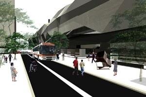 Foto-montagem - Nível da rua<br />Imagem do autor do projeto