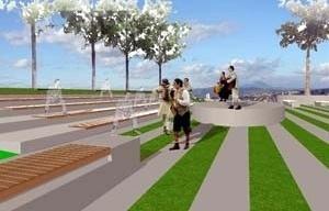 Praça Grupo Galpão<br />Imagem dos autores do projeto