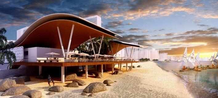 Mercado de peixes possui uma arquitetura leve, porém marcante. Sua coberta ondulada faz alusão às ondas do mar