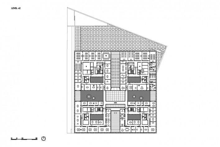 Câmara de Comércio e Artesanato de Hauts-de-France, planta segundo pavimento, Lille, França, 2019. Escritórios Kaan Architecten e Pranlas-Descours Architect & Associates<br />Imagem divulgação  [Kaan Architecten / Pranlas-Descours Architect & Associates]
