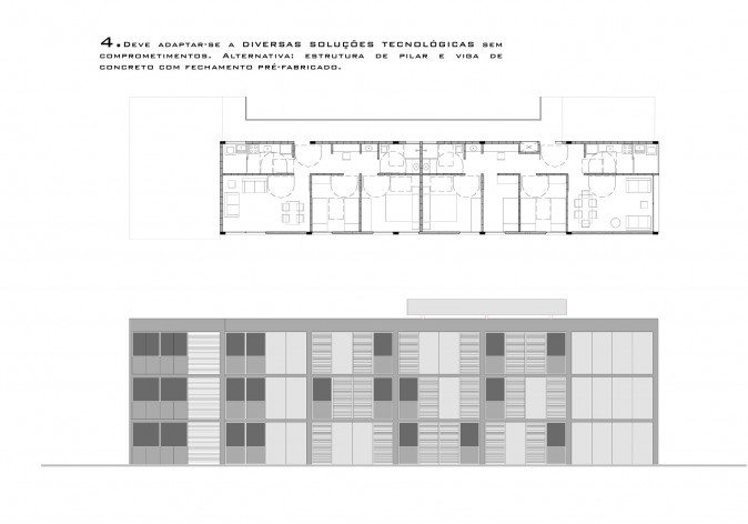 Critérios de projeto /Célula 03. Concurso Habitação para Todos - CDHU. Edifícios de 3 pavimentos - 1º Lugar.<br />Autores do projeto  [equipe vencedora]