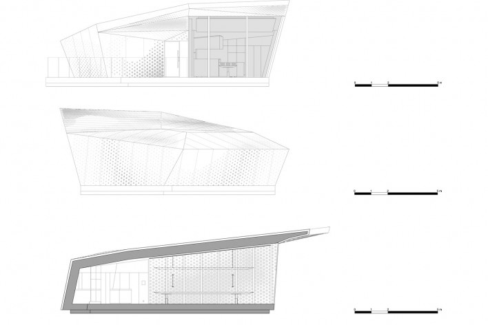 Elevation_Section. The Cube, Park Associati. Brussels, 2011<br />image release