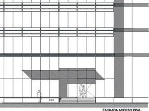 Detalhe do acesso / fachada<br />Imagens dos autores do projeto