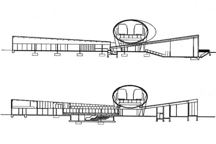 """Corte ilustrando a cobertura que gera um """"espaço intersticial"""" sob o tubo Exelon"""