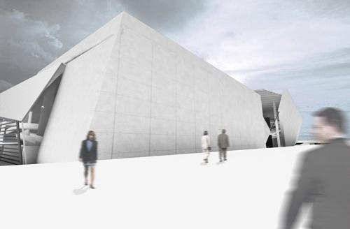 Perspectiva dos teatros<br />Imagem do autor do projeto