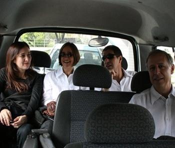Silvana Romano, Marta Bogea, Francisco Fanucci e Marcelo Ferraz na Van<br />Foto Abilio Guerra