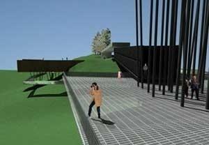 Vista a partir da Praça dos Lanceiros<br />Imagem dos autores do projeto