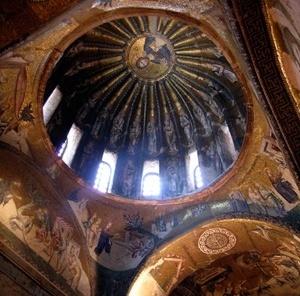 Cúpula da Igreja de São Salvador em Chora,  Istambul [passar mouse sobre