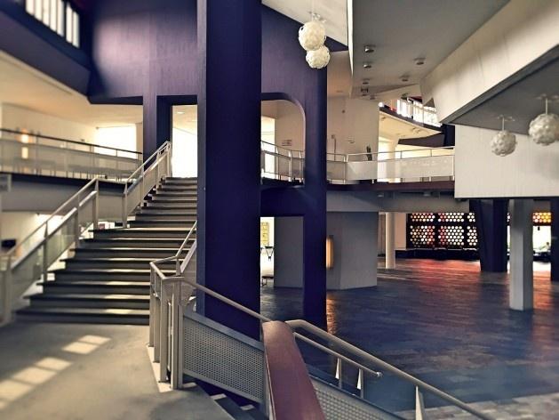 Sala de Música de Câmara, foyer e circulação, Berlim, arquiteto Hans Scharoun<br />Foto Fabiano Borba Vianna, 2016