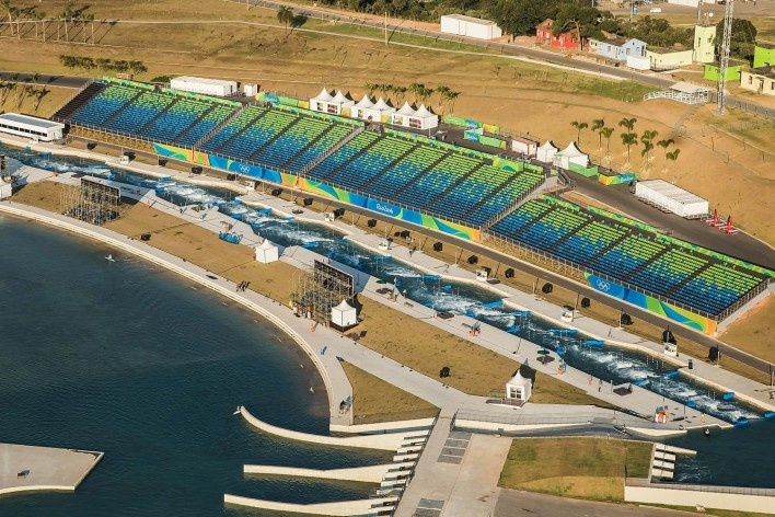 Estádio Olímpico de Canoagem Slalom, Parque Olímpico de Deodoro, Rio de Janeiro, RJ, Escritório Vigliecca & Associados<br />Foto Renato Sette Camara