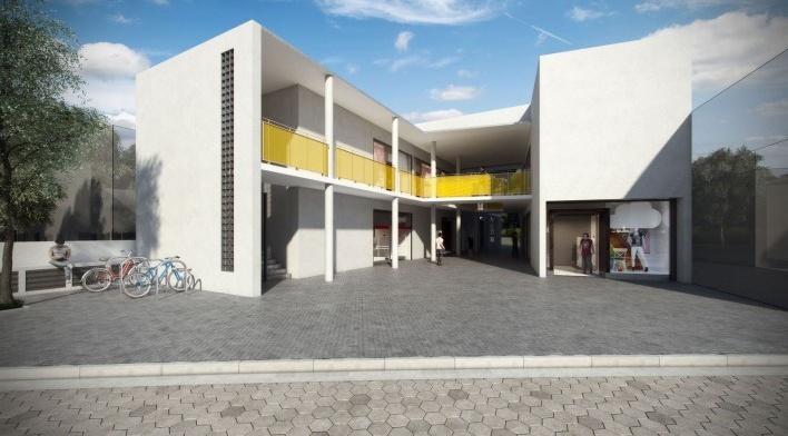 Projeto do Centro Comercial do Cruzeiro<br />Fonte Boldarini Arquitetos Associados