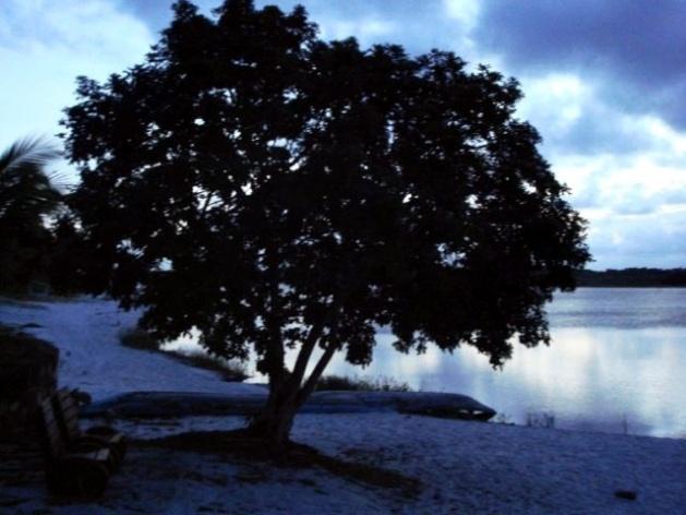 Início da noite na Lagoa do Cassange
